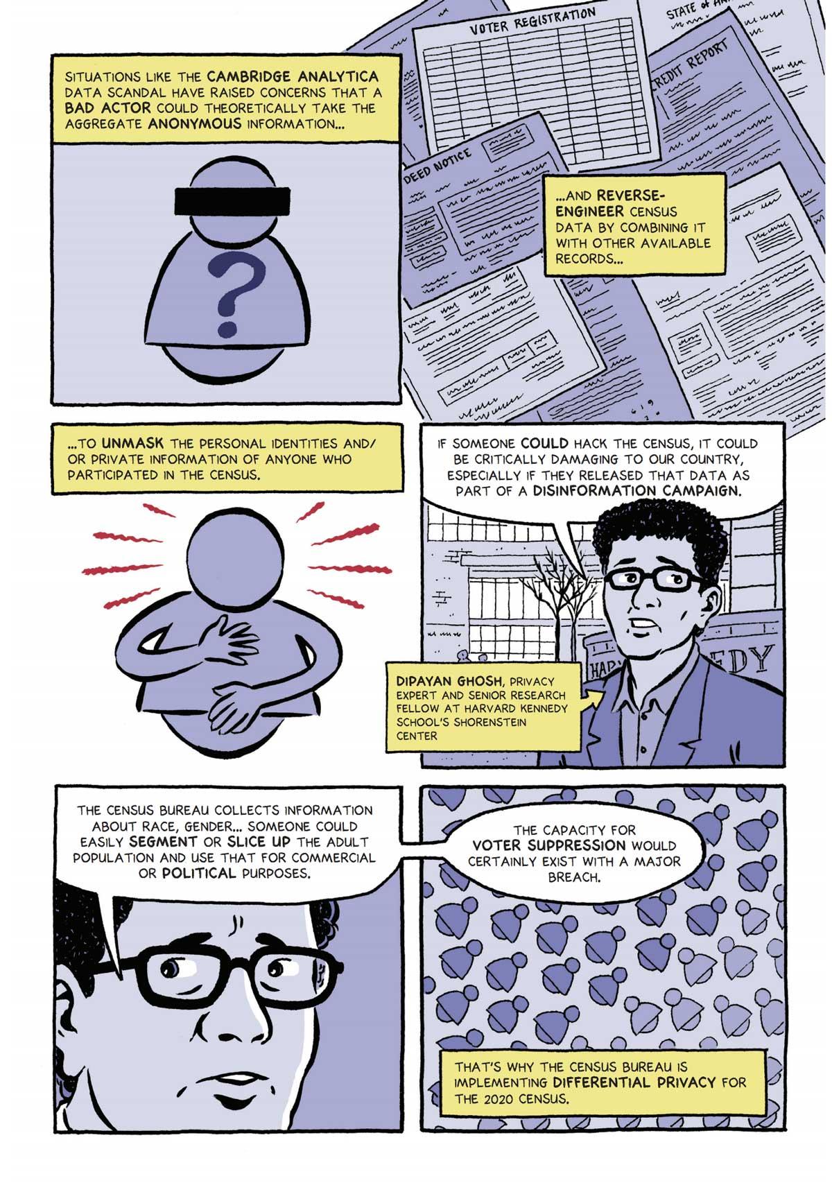 differential privacy explainer 2020 census comic